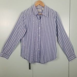 GAP blue white stripes long shirt size M -C9